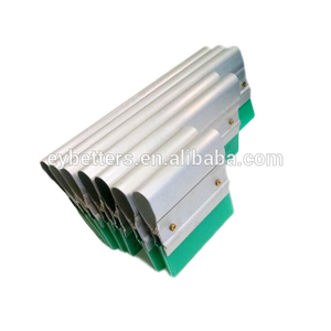 Aluminum handle rubber squeegee for exposure table screen printing